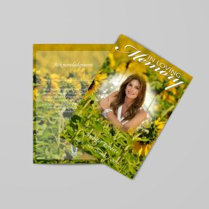Floral Themed Funeral Program Template