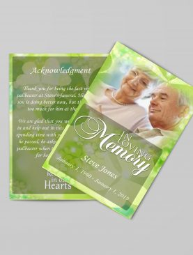 Celtic Irish Green Funeral Program Template