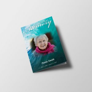 Blue Ocean Funeral Program Word Template