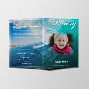 funeral Program 8.5 x 11 (4 pages)