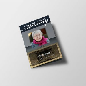 Fisherman Funeral Program Template