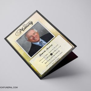 Memorial Funeral Program Word Template