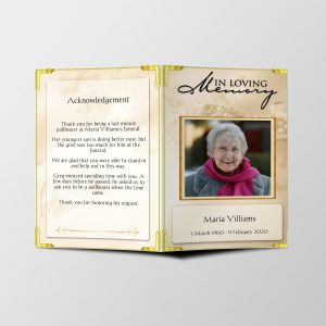 Funeral Program Word Template