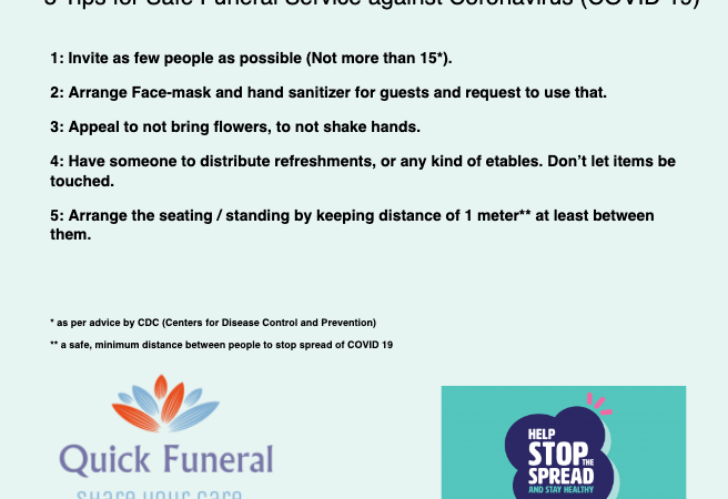 5 Tips for Safe Funeral Service against Coronavirus (COVID 19)