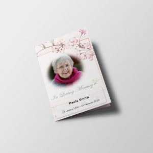 Simply Floral Funeral Program Word Template