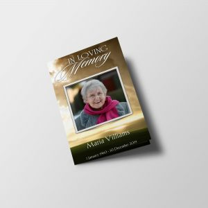 Dark Cloud Funeral Program Word Template