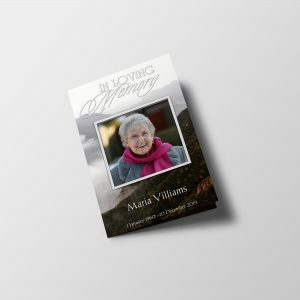 White Natural Funeral Program Template
