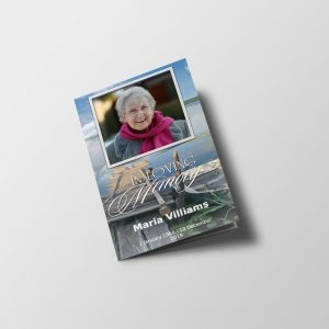 Lakeside Funeral Program Template
