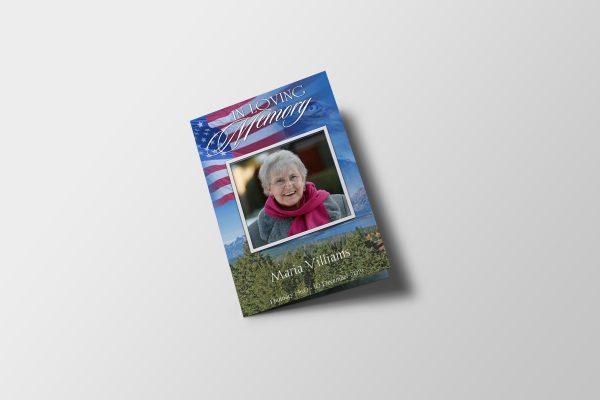 US Flag Funeral Program Template