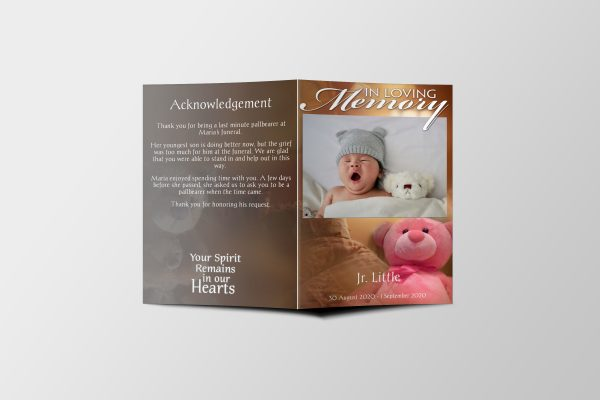 Baby Funeral Program Template Covers