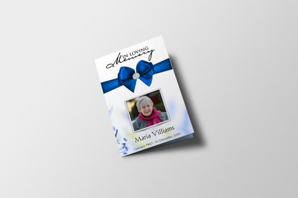 royal diamond funeral program template