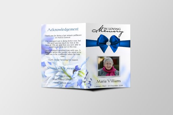 royal diamond funeral program template cover