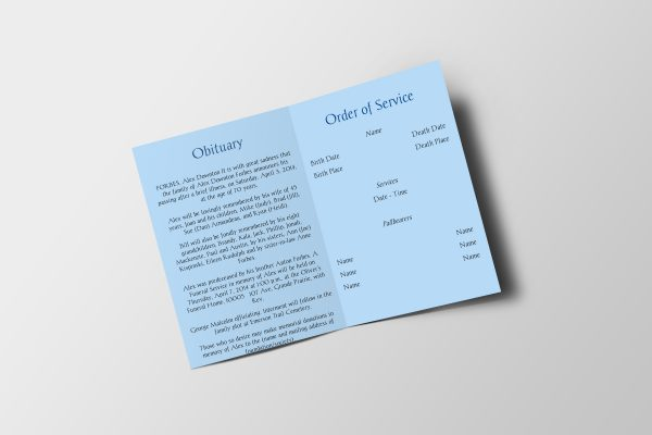 royal diamond funeral program template inside