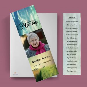 Sky Funeral Bookmark Template