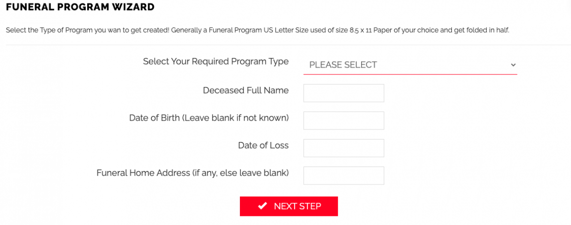 Easy Funeral Program Maker Software