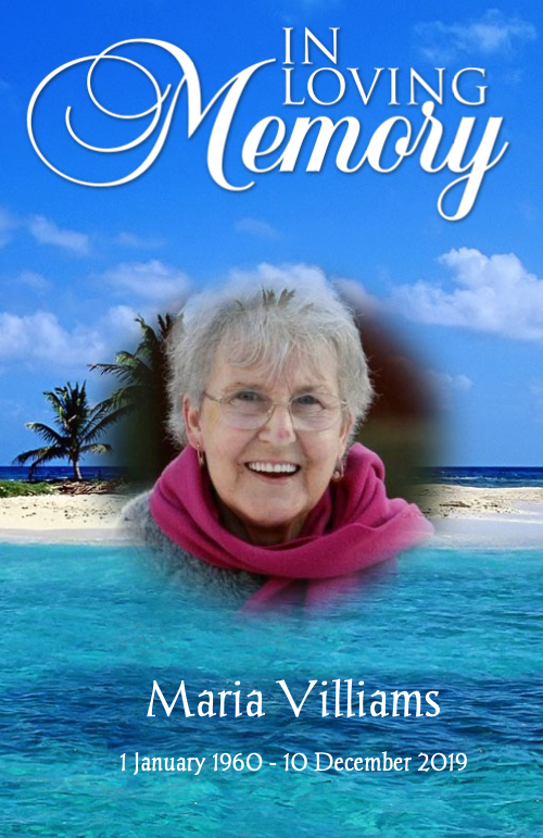 beach funeral program template cover page