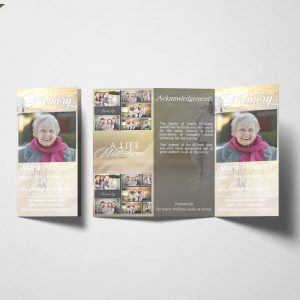 Jesus Christian Trifold Funeral Program Template