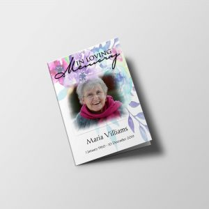 multicolor-floral-funeral-program-template