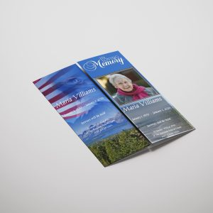 US Flag Gatefold Funeral Program Template