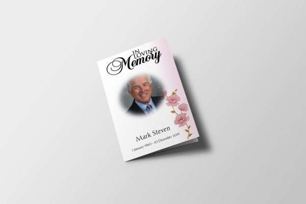 Less Color Funeral Program Template