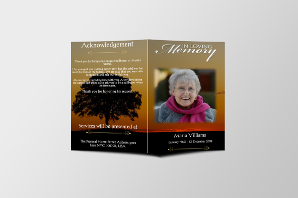 The Lord Call Funeral Program Template Covers