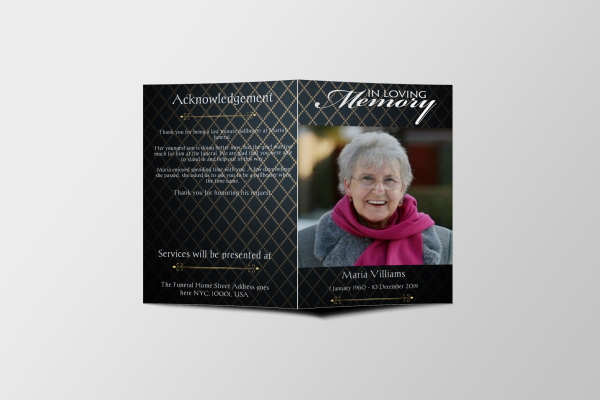 elegant funeral program template covers