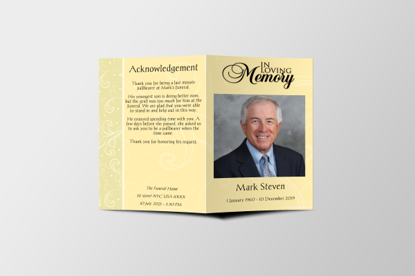 Professional Funeral Program Template Cover