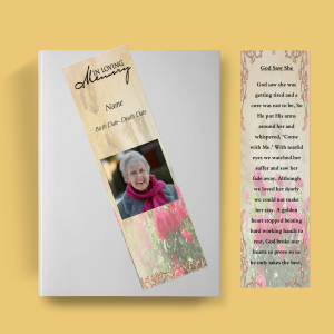 Rose Funeral Bookmark Template