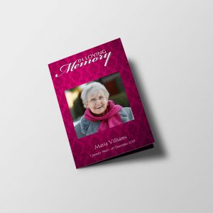 Women Vintage Funeral Program Template