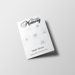 Healthcare Funeral Program Template