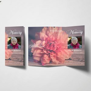 Natural Pink Trifold Funeral Program
