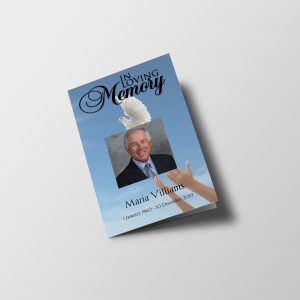 Dove 8 Page Funeral Program Template
