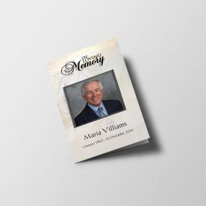 Jesus Hands 8 Page Funeral Program Template
