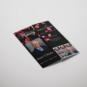 Royal Rose Gatefold Funeral Program