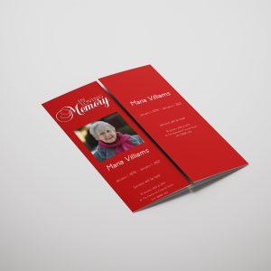 Red Rose Gatefold Funeral Program