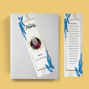 Royal Funeral Bookmark Template