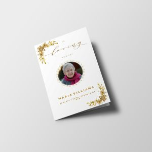 Golden Royalty Funeral Program Template
